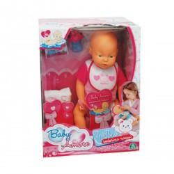Baby Amore Pipi Popo interaktív baba - rózsaszín Játék