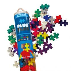 PlusPlus Basic Mix építőjáték - alapszínek cső, 100 darabos