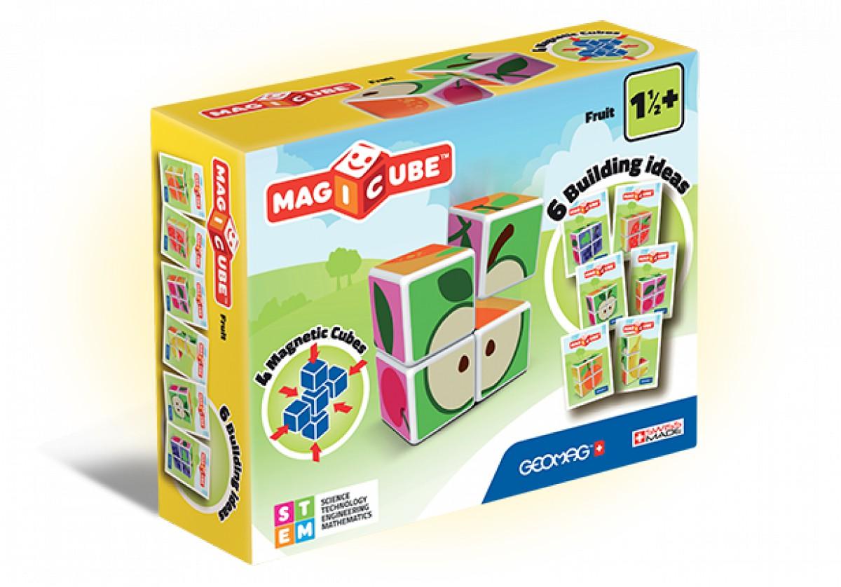 8bc2bfa5fd80 Geomag Magicube gyümölcsök 4 darabos mágneses kockaépítő szett