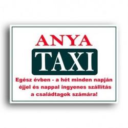 Rendszámtábla Anya taxi felirattal -Vicces meglepik ... f3d7f89a29