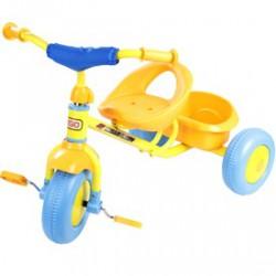 Fémvázas tricikli - sárga - Járművek