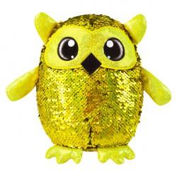Simiflitter bagoly figura - 20 cm, arany - piros - Simiflitter plüssök, játékok Simiflitter