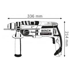 BOSCH GSB 20-2 kétfokozatú, vezetékes ütvefúró KickBack Control funkcióval 060117B400