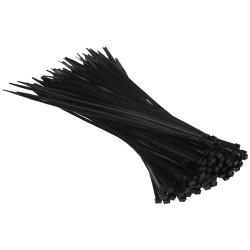 Kábelkötöző / Gyorskötöző - Fekete - 3,6x300mm - 100db - RÖGZÍTÉS, TÖMÍTÉS
