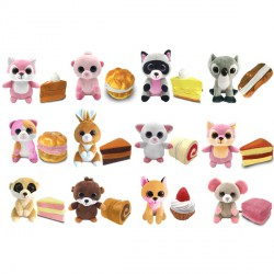 Süti állatkák kifordítható plüssfigura - 10 cm, Desszert Detti - Sweet Pups/Süti kutyusok Süti állatkák plüssök