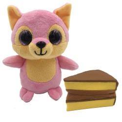 Süti állatkák kifordítható plüssfigura - 10 cm, Édes Krémes - Sweet Pups/Süti kutyusok Süti állatkák plüssök