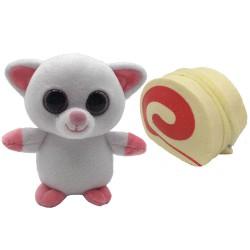 Süti állatkák kifordítható plüssfigura - 10 cm, Rolád Roli - Sweet Pups/Süti kutyusok Süti állatkák plüssök