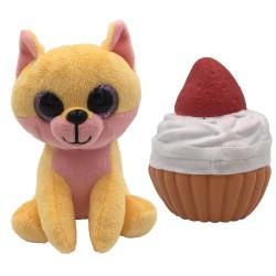 Süti állatkák kifordítható plüssfigura - 10 cm, Bogyó Bori - Sweet Pups/Süti kutyusok Süti állatkák plüssök