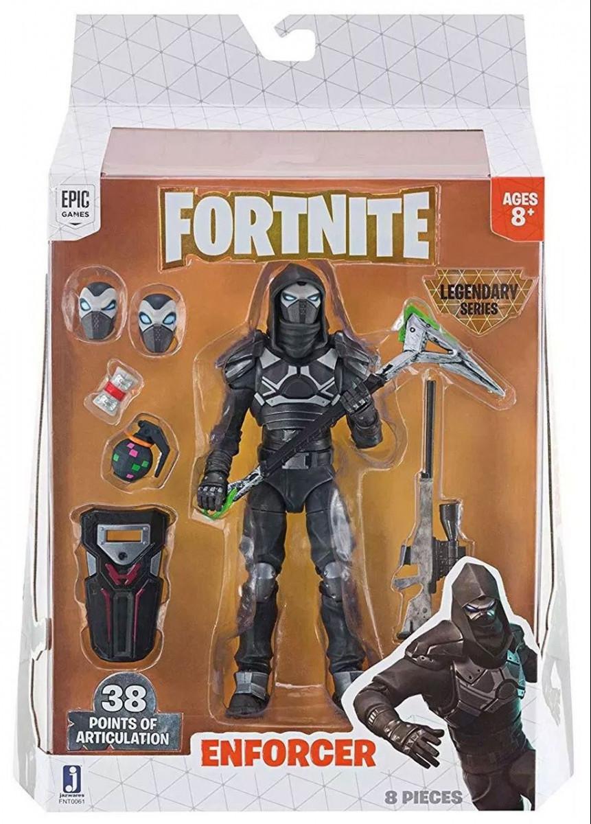 Fortnite Enforcer figura kiegészítőkkel 15 cm