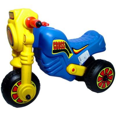 Műanyag Cross kismotor - kék-sárga