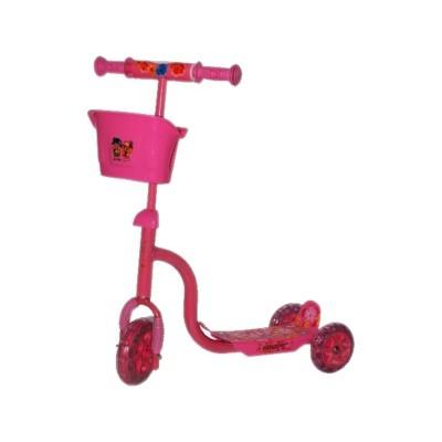 Roller háromkerekű rózsaszínű kosaras