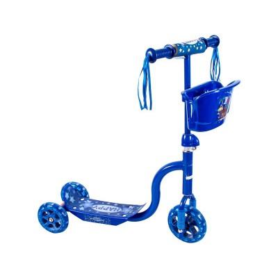 Roller háromkerekű kék kosaras