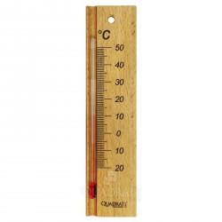 QUADRAT - Hőmérő, fa, kicsi, natúr - Fürdőszobai kiegészítők