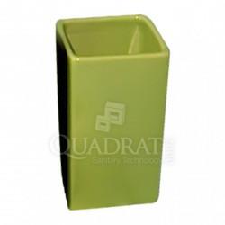 QUADRAT - Kerámia, CUBES GREEN Family, fürdőszoba kiegészítő - Fürdőszobai kiegészítők