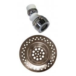 QUADRAT - Szűrőszett, (csapszűrő+lefolyószűrő) ARGENT - Fürdőszobai kiegészítők
