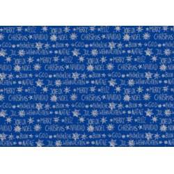 Herlitz - Karácsonyi csomagoló 2mx70cm, tekercses, kék, mintás - Csomagolópapírok