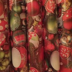 Herlitz - Karácsonyi csomagoló 2mx70cm, tekercses, karácsonyfadísz mintás - Csomagolópapírok