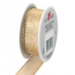 Herlitz - Karácsonyi textilszalag 25mm x 2m, drótos, Sacramento gold - Csomagolópapírok