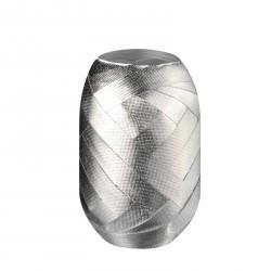 Herlitz - Tojáskötöző 15mx8mm ezüst, anyagában mintás felülettel - Csomagolópapírok