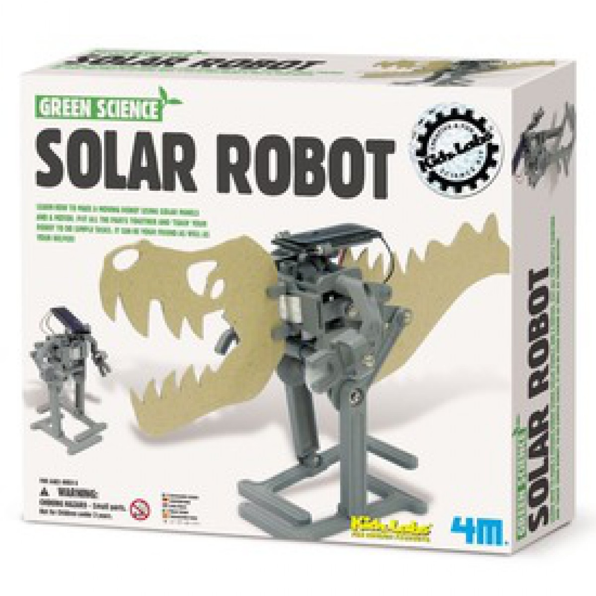 Kidz labs 4m z ld tudom ny napelemes robot k szlet for How to make a solar panel for kids