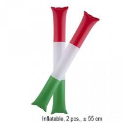 Szurkolói rúd 2 darabos készlet - piros-fehér-zöld -Magyaros termékek