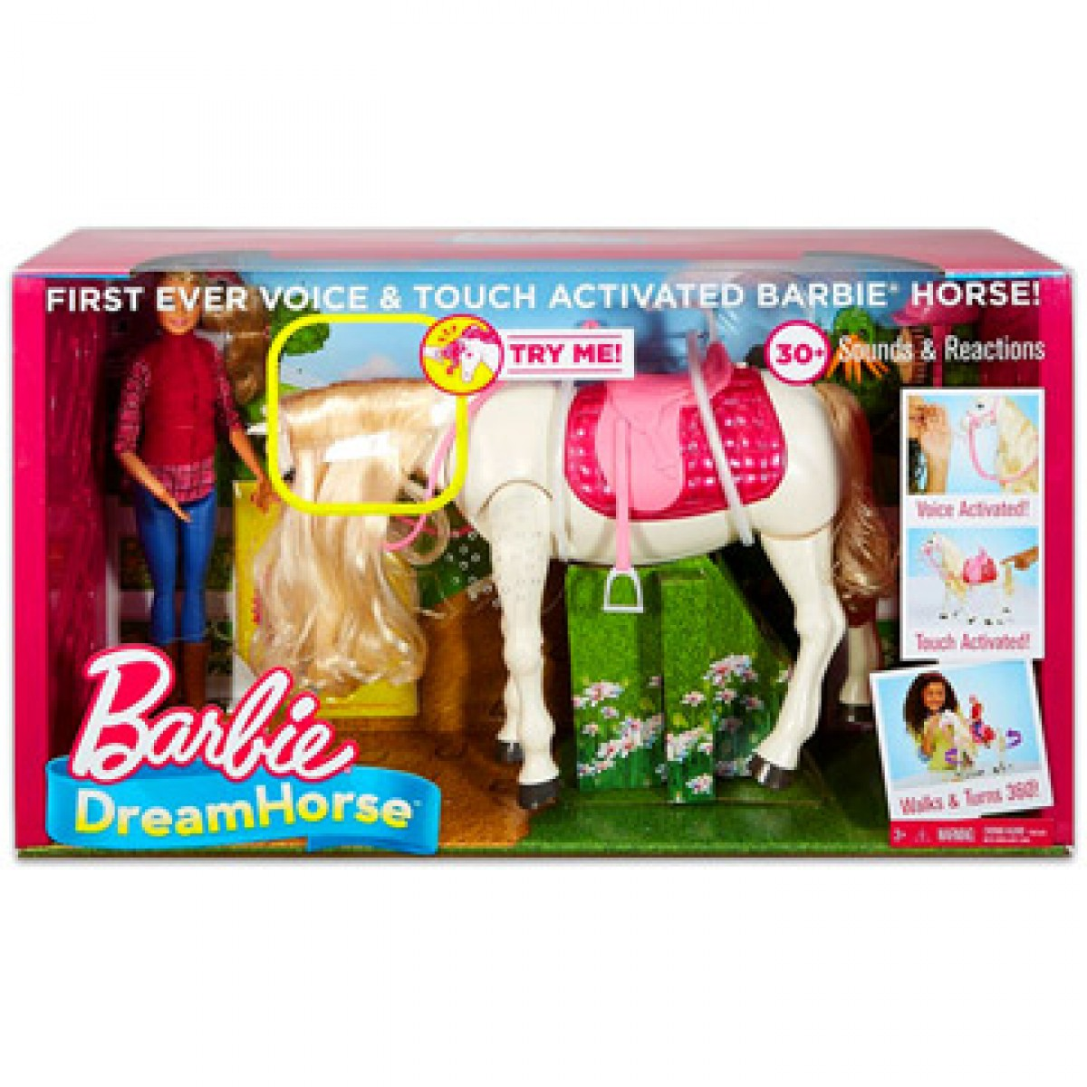 Barbie Dreamhorse Barbie fehér lóval