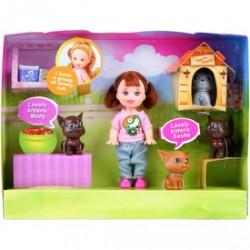 Sairy baba cicákkal ( 10cm babával ) - Defa Lucy babák és kiegészítők Defa Lucy