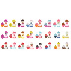 Cupcake bears - illatos mini sütimacik 4 darabos, 24 féle változatban - Cupcake - Sütibabák és fagyikehely babák Cupcake
